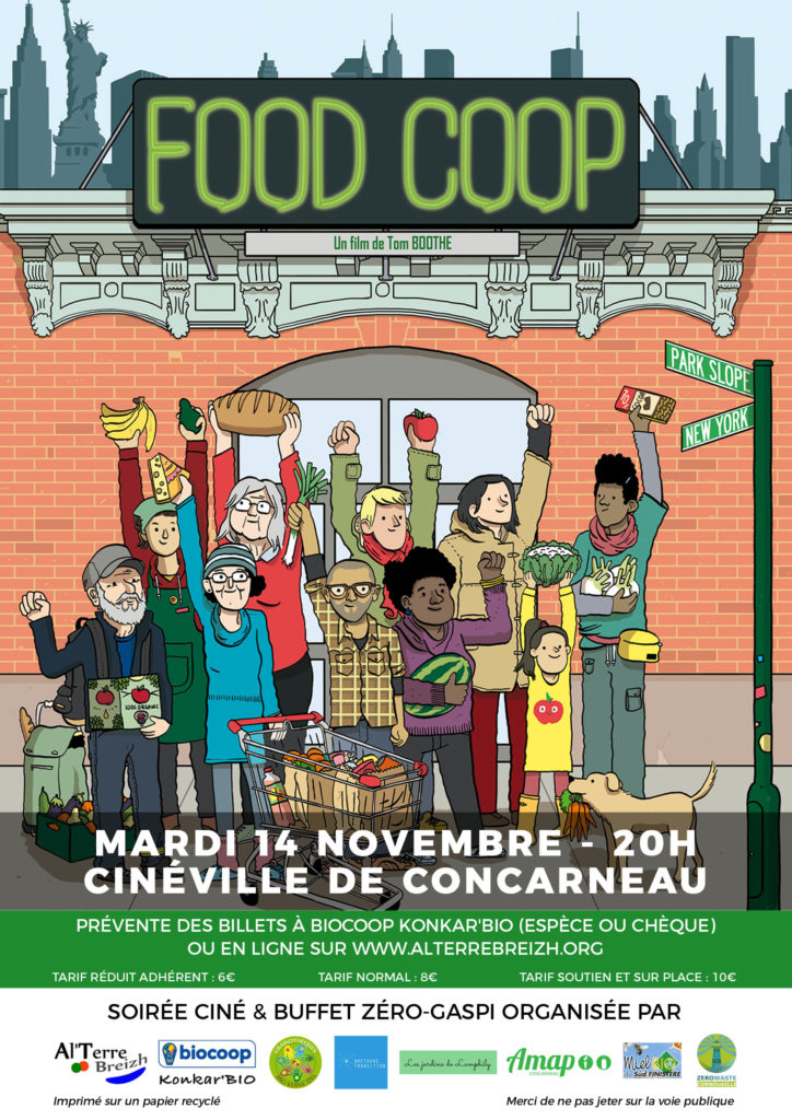Food Coop projection 14 novembre à Concarneau